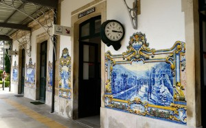 Azulejos on wall of railway station Pinhao Douro upper valley Portugal | Picture: © ROUSSEL IMAGES / Alamy